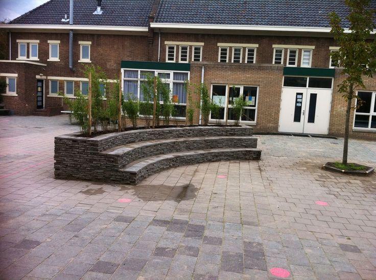 Amfitheater bouwen op het schoolplein Ter Cleeff
