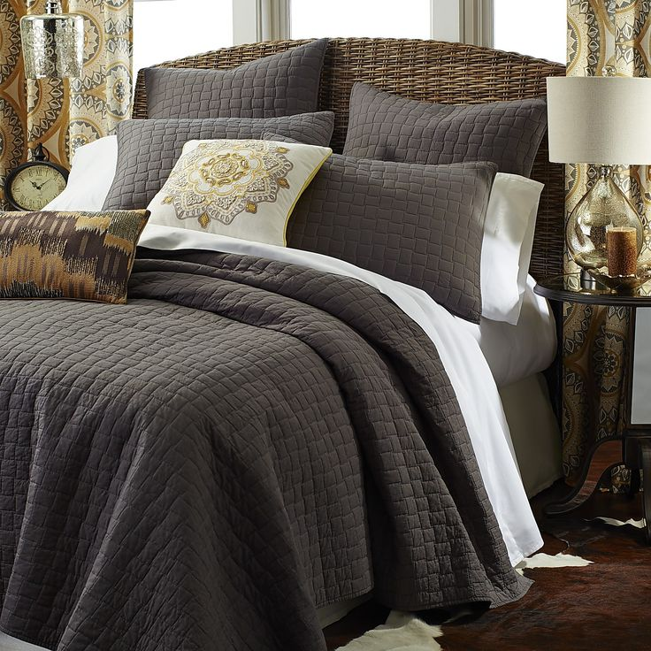 Weston Charcoal Quilt Amp Sham Quilt Cotton And Charcoal