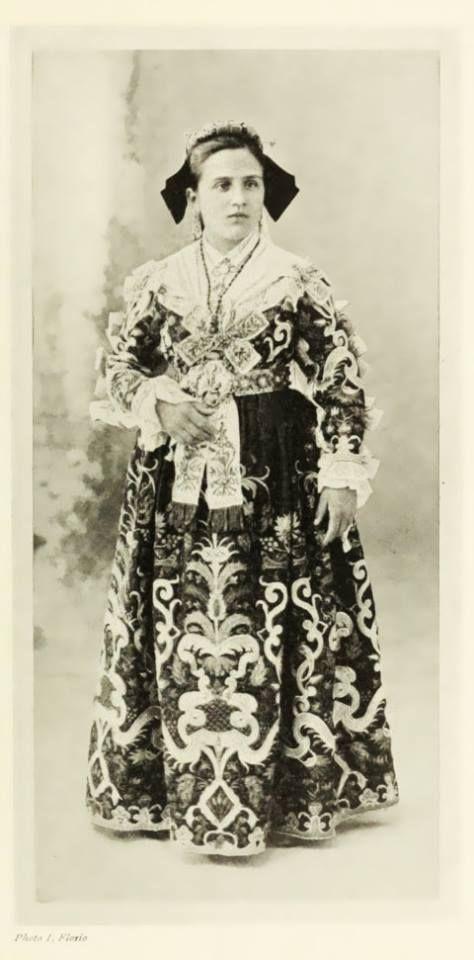 Costume of Piana Dei Graeci /Albanesi, Palermo, Sicily 1913
