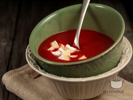 Supa crema de sfecla coapta cu mere