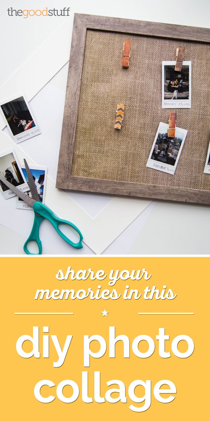 Display your favorite photos and polaroids! Here's an easy video tutorial for creating this photo collage.