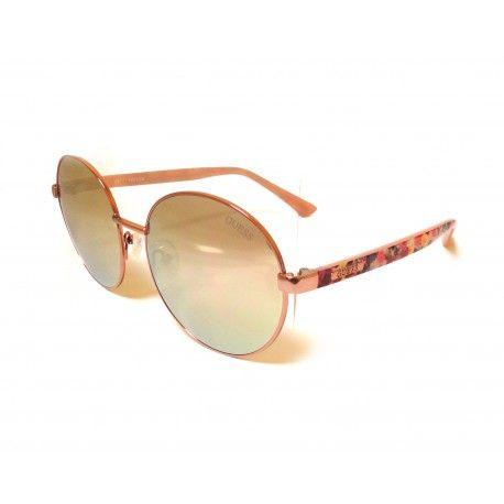 Guess GU7388 Markowe okulary przeciwsłoneczne. Boska lustrzanka, różowy kobiecy kolor.  #okulary #przeciwsłoneczne