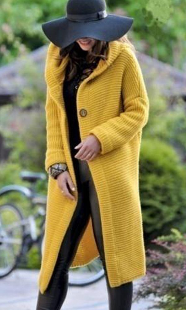 c2d8c1ae2394 Fashion Hooded Long Cardigan Jacket Autumn and Winter Warm Sweater ...