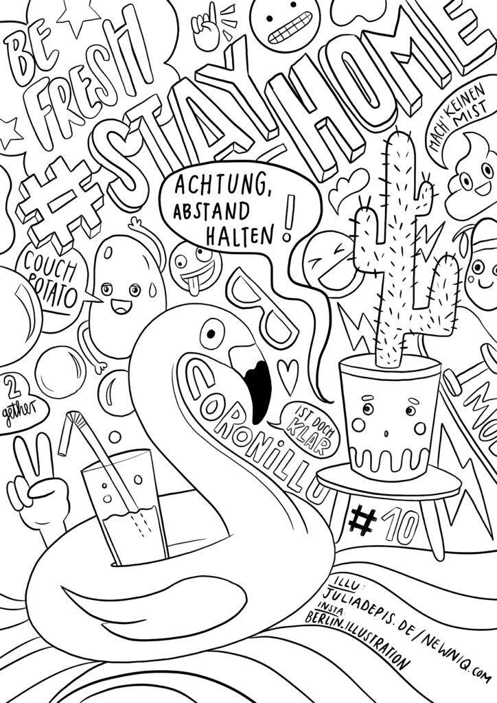 Malvorlagen Fur Kinder Gegen Den Corona Koller Newniq Interior Blog Design Blog Malvorlagen Fur Kinder Ausmalbilder Ausmalen