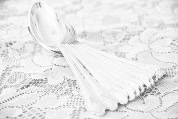 sølvskje #borddekking #vintage #table setting #silver