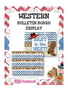 cowboy bulletin board | WESTERN COWBOY Bulletin Board Set Display