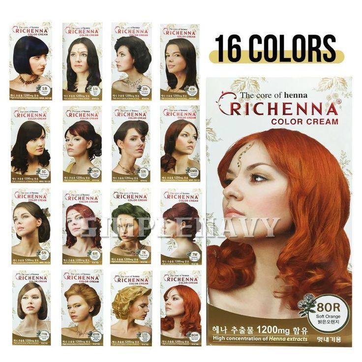 RICHENNA Color Cream Hair Color, Hair Dye #RICHENNA