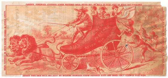 Antiques from the web Standard Screw Fastened Trade Card Red