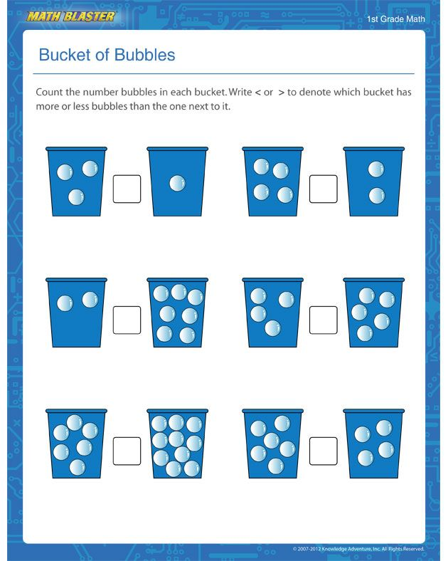 Counting worksheets 1st grade