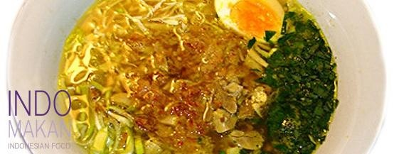Soto ayam richly filled chicken soup cooking some indonesian