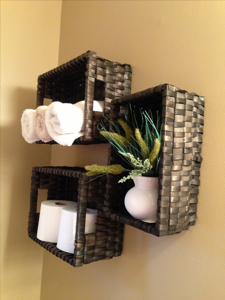 18 best images about bathroom organization on pinterest wall basket diy wall and metal baskets. Black Bedroom Furniture Sets. Home Design Ideas