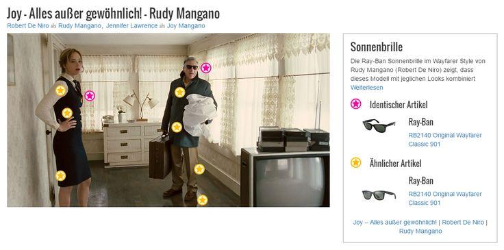 Die Ray-Ban Sonnenbrille im Wayfarer Style von Rudy Mangano (Robert De Niro) zeigt, dass dieses Modell mit jeglichen Looks kombiniert werden kann und somit ein echtes Allroundtalent der Accessoires ist. Anhand von Joys Vater Rudy zeigt sich außerdem, dass dieses klassische Must-Have zu jeder Zeit stilsicher und cool wirkt. Auch wenn die Sonne mal nicht scheint…