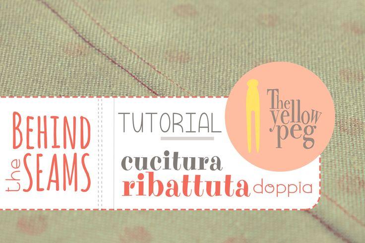 Come fare una cucitura ribattuta doppia (o piatta doppia) in una semplice guida passo-passo.