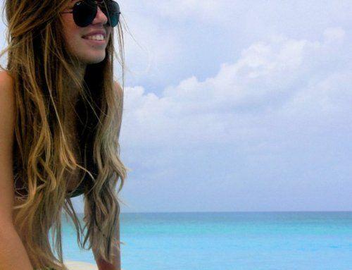 long long hair. :)
