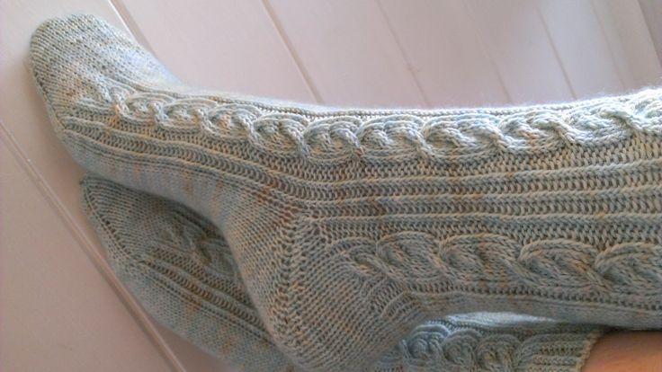 Beltane Socks: http://www.ravelry.com/patterns/library/beltane-socks