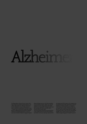 Poster work in process / Alzheimer by MARIN DSGN,