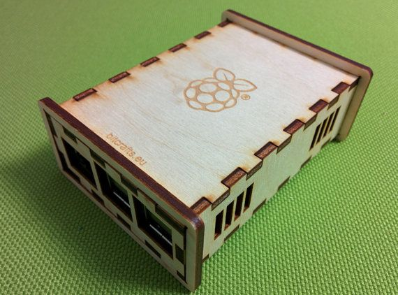 Laser cut wooden case for Rasberry Pi B+