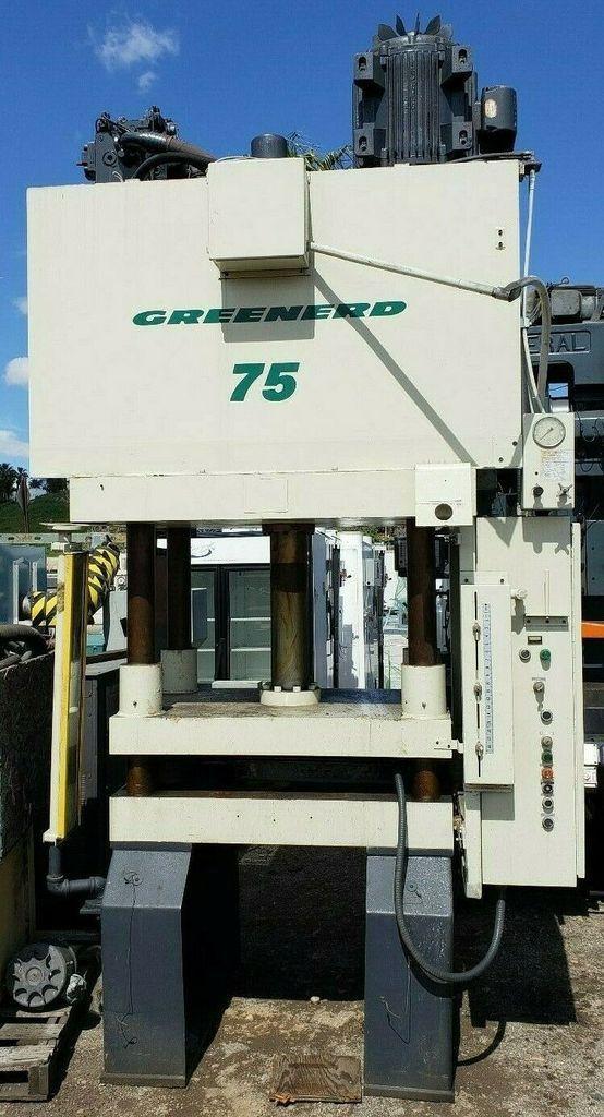 1999 Greenard 75 Ton Hydraulic Press 36 X 30 Model 4d 75 36x30 75r37 5 Hydraulic Welding Positioner Machine Shop