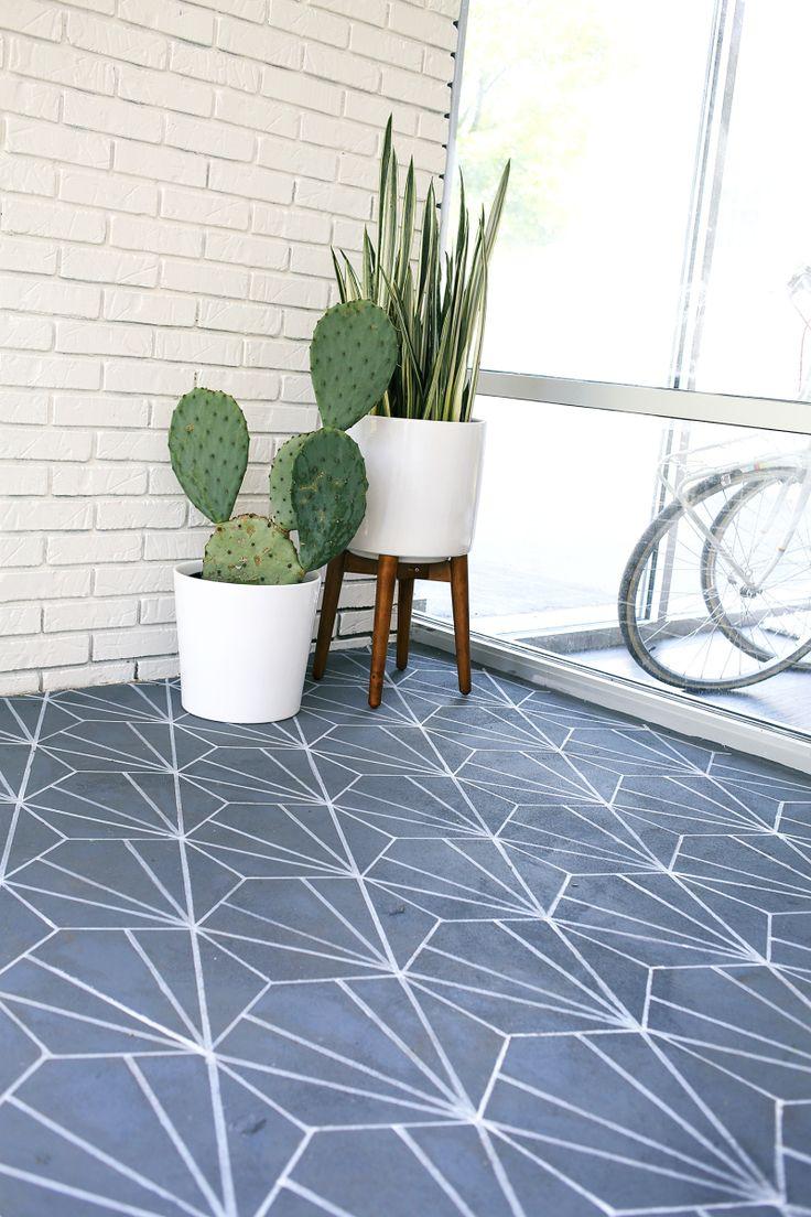 Faux Cement Tile DIY