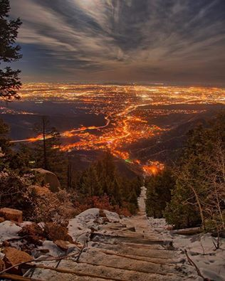The Incline Manitou and Colorado Springs, Colorado Photo by Reese Hein