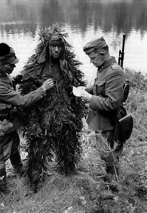 A russian sniper after being captured by Finnish soldiers.