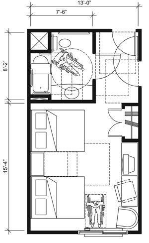 8 best ada design images on pinterest ada bathroom for Ada bathroom door