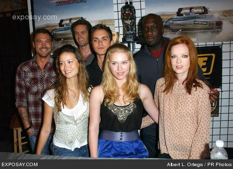 Brian Austin Green, Garret Dillahunt, Thomas Dekker, Richard T. Jones, Summer Glau, Leven Rambin and Shirley Manson