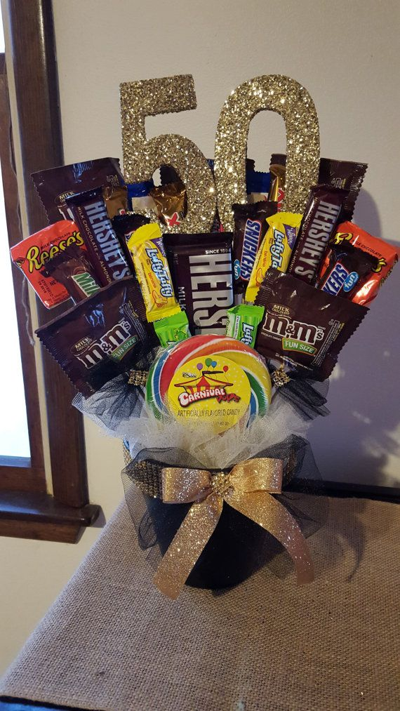 Candy Bouquet Birthday Thank you Gift by MomentsbyAnabella on Etsy