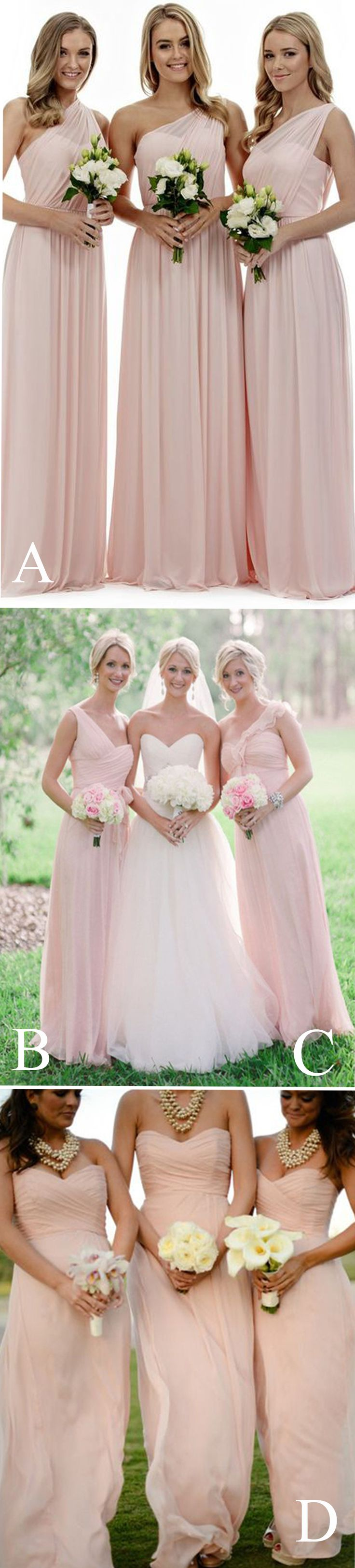 Best 25 light pink bridesmaid dresses ideas only on pinterest long bridesmaid dresslight pink bridesmaid dressesmismatched bridesmaid dresselegant bridesmaid dress ombrellifo Image collections