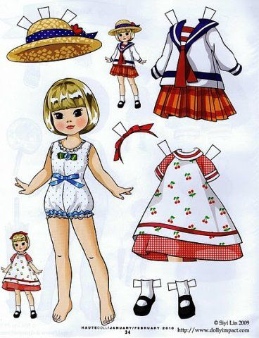 Paper dolls - good old game with Victorian era history, models and clothes