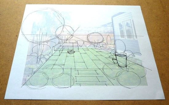 How to Create a Garden Perspective Drawing at Home Step (4)
