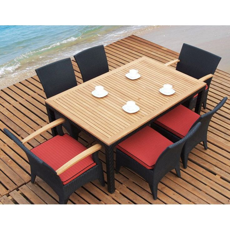 resin rattan dining chairs. tosh furniture teak and all weather resin wicker dining set-seats 6 | www. rattan chairs n
