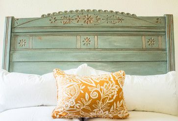 Late 19th Century Duck Egg Headboard - eclectic - bedroom products - other metro - Portilla Design