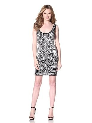 Nicole Miller Women's After The Gold Rush Jacquard Tank Dress
