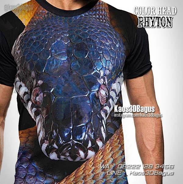 Kaos ULAR PHYTON, Kaos Kepala Ular, Kaos Ular Phyton Biru, Kaos 3D, Kaos Gambar Ular, Kaos Reptil, https://kaos3dbagus.wordpress.com, WA : 08222 128 3456, LINE : Kaos3DBagus