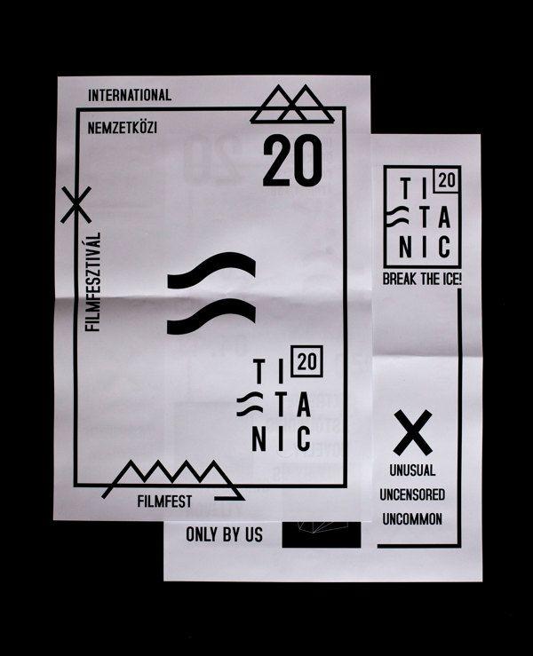 Titanic International Filmfest / Festival posters,cards by Niki Palinkas, via Behance