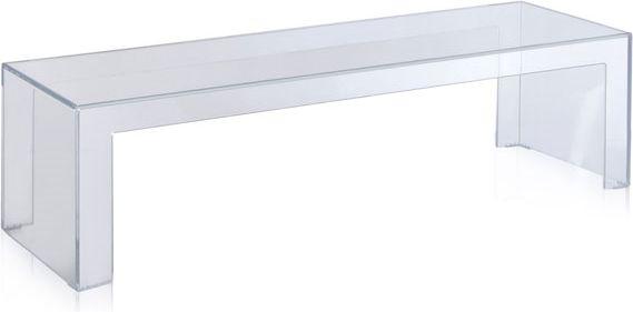 - Afmetingen: 120x40 cm (bxd)- Tafelhoogte: 31,5 of 40 cm (h)- Materiaal: transparant of in de massa gekleurd PMMA- Ontwerper: Tokujin Yoshioka- Geschikt voor binnen en buiten- Garantie: 2 jaarEen tafel met een duidelijk, rechtlijnig, minimalistisch design, een esthetische synthese van de Japanse cultuur van de designer. Invisible Side is een multifunctionele, lichte en elegante tafel die zonder problemen omgevormd kan worden in een side table of een console. Ze is geschikt voor de…