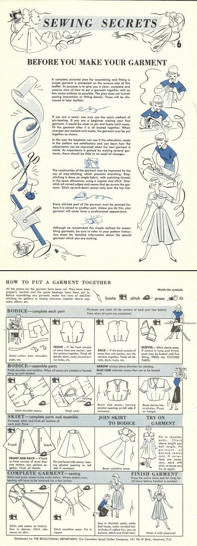 Putting a garment together Vintage Tutorial #Sewing #Vintage #Tutorial #DIY #Tips #Idea #Fashion #Garment #Clothes #Colette
