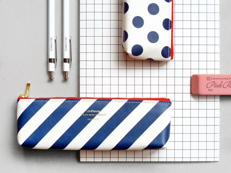 Stripes/Spots Pencil Case http://presentandcorrect.com/item.php?item_id=1589