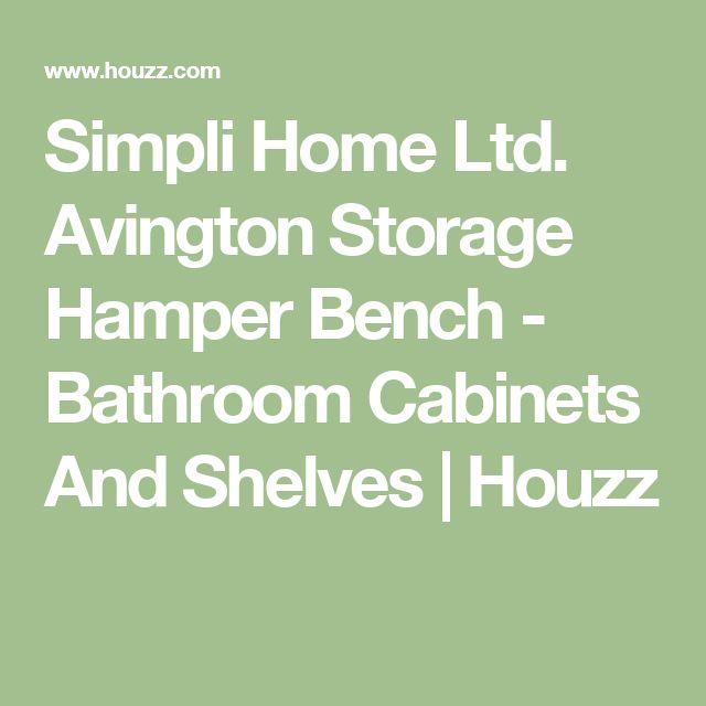 Simpli Home Ltd. Avington Storage Hamper Bench - Bathroom Cabinets And Shelves   Houzz