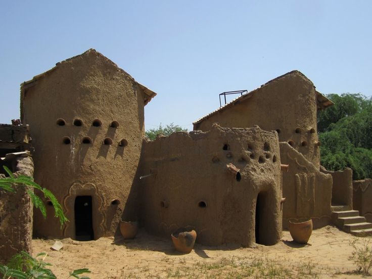 The former sultan's palace in the village of Gaoui just east of N'Djamena, Chad, Central Africa, currently houses a small museum of Sao culture.