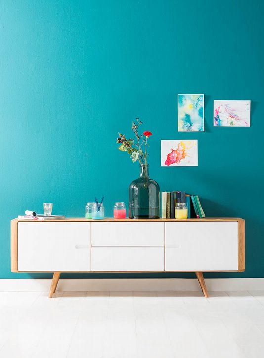 Vinden jullie dit speelse, dressoir met scandinavische touch ook een zomerhit?
