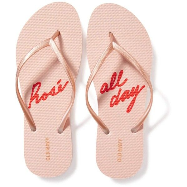 Old Navy Womens Printed Flip Flops ($4) ❤ liked on Polyvore featuring shoes, sandals, flip flops, patterned shoes, old navy, logo shoes, old navy flip flops and print shoes
