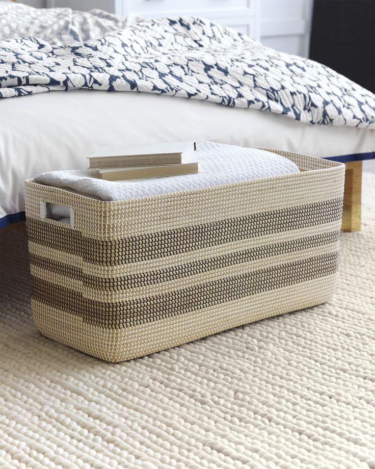 Chic End Of The Bed Storage | Rectangular La Jolla Basket Via Serena U0026 Lily