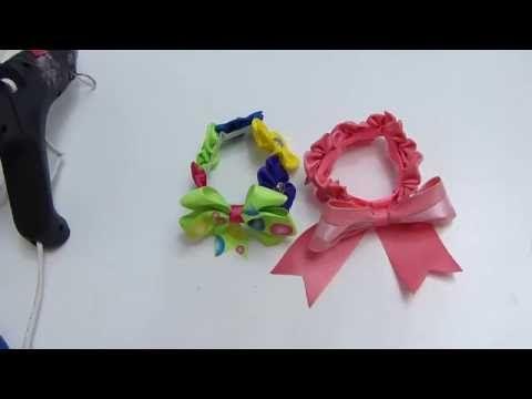 como hacer flores dobles en cinta para el cabello paso a paso: Manualidadeslahormiga - YouTube