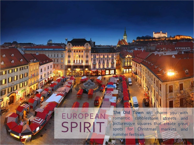 EUROPEAN SPIRIT    The Old Town will charm you with romantic cobblestone streets and picturesque squares that create great spots for Christmas markets and summer festivals.