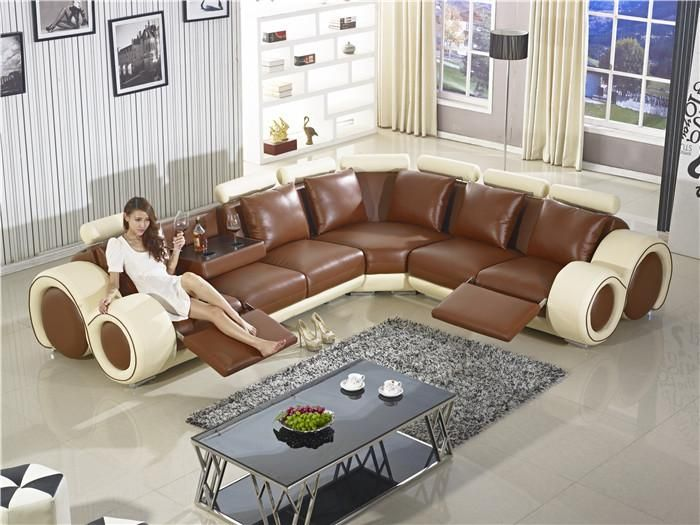 Recliner Sofa New Design Large Size L Shaped Sofa Set Italian Leather Corner Sofa With Reclin Bedroom Furniture Layout Leather Corner Sofa Reclining Sofa Decor