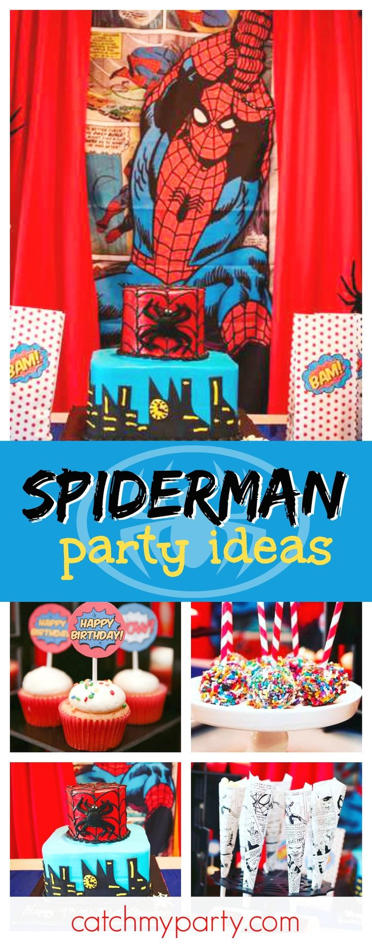 Check out this awesome Spiderman birthday party! The decorations are so much fun!! See more party ideas and share yours at CatchMyParty.com