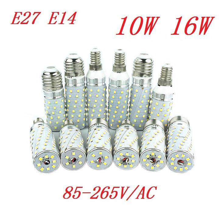 E27 E14 LED Lamp 2835 SMD Corn Light Bulb 10W 16W 110V 220V Cold Warm White Bombillas Bulbs Lampada Ampoule Brightness Spotlight #Affiliate