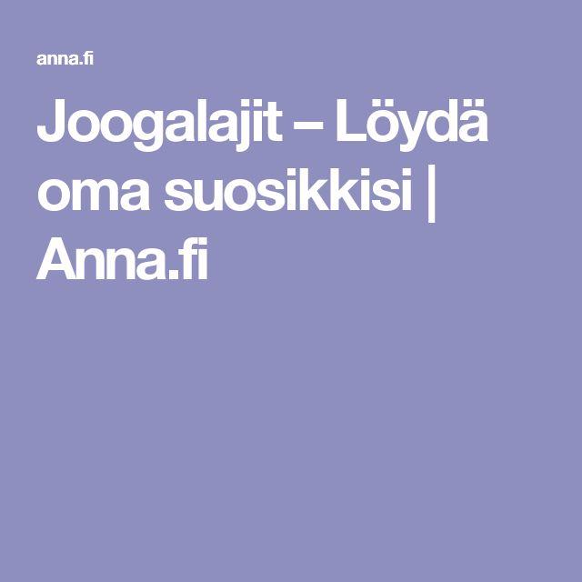 Joogalajit – Löydä oma suosikkisi | Anna.fi
